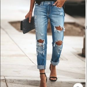 KanCan boyfriend relaxed fit destroyed jeans 9/28